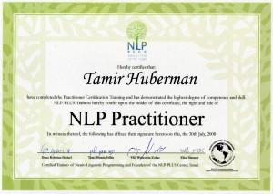 NLP Practiotioner certificate