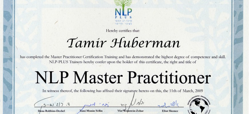 NLP Master Practitioner – NLP Plus