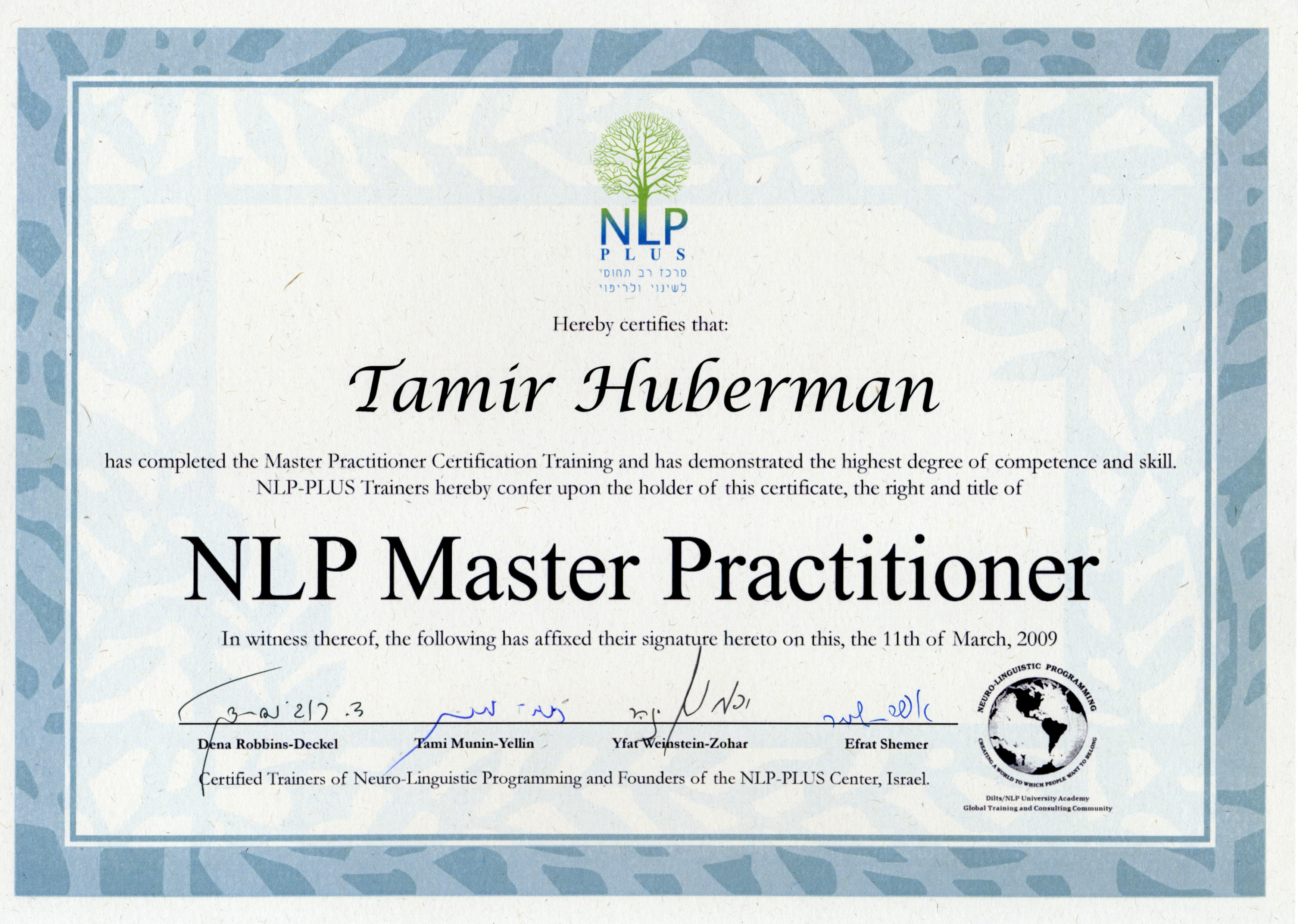 Master Nlp Practitioner Course - NLP Practicioner